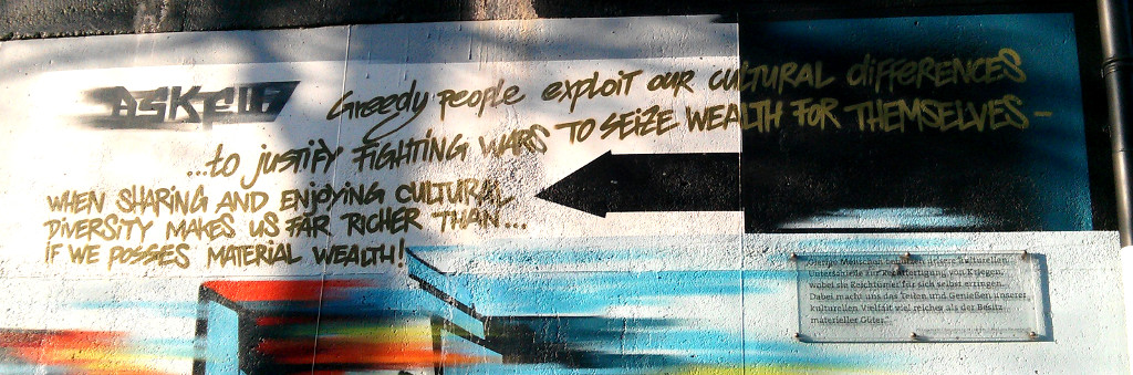 Greedy people exploit our cultural differences to justify fighting wars to seize wealth for themselves, when sharing and enjoying cultural diversity makes us far richer than if we possess material wealth
