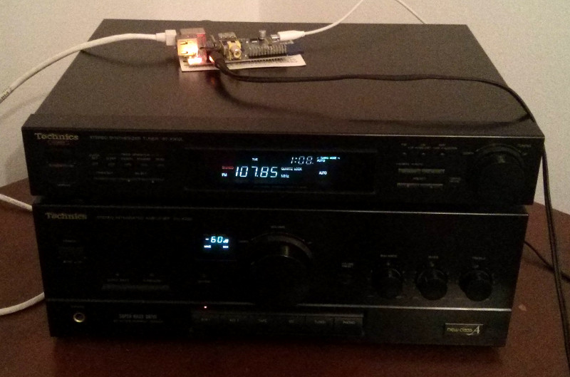 Technics hifi with a Raspberry Pi attached